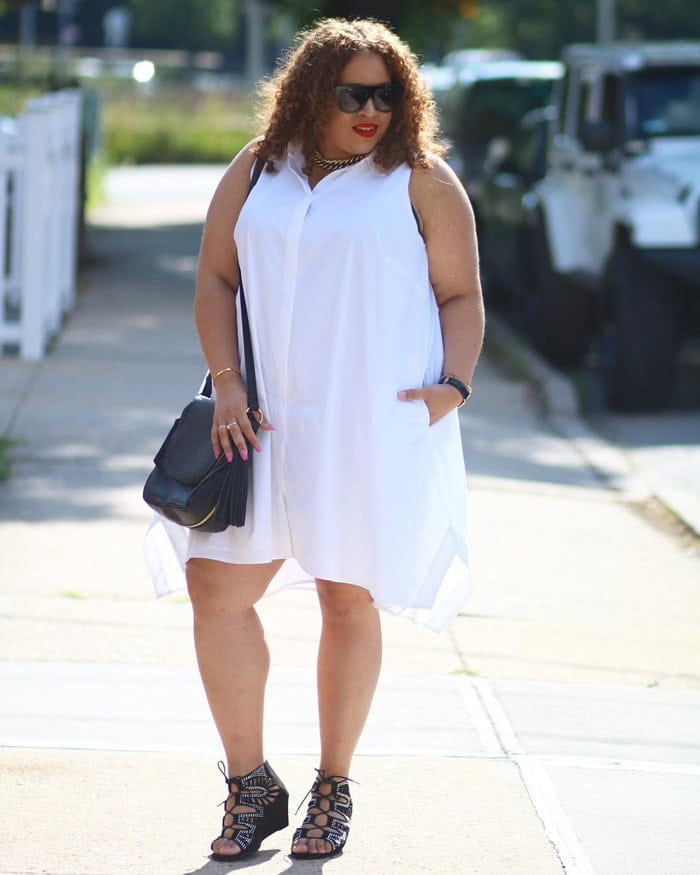 how to wear a white shirtdress | 40plusstyle.com