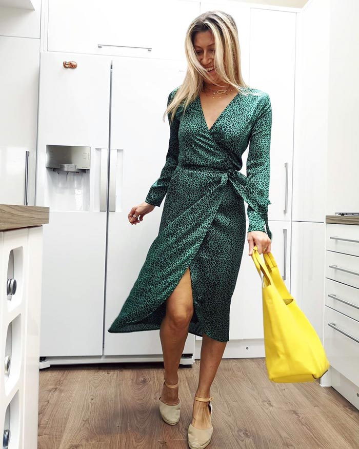 wrap dress with sleeves | 40plusstyle.com