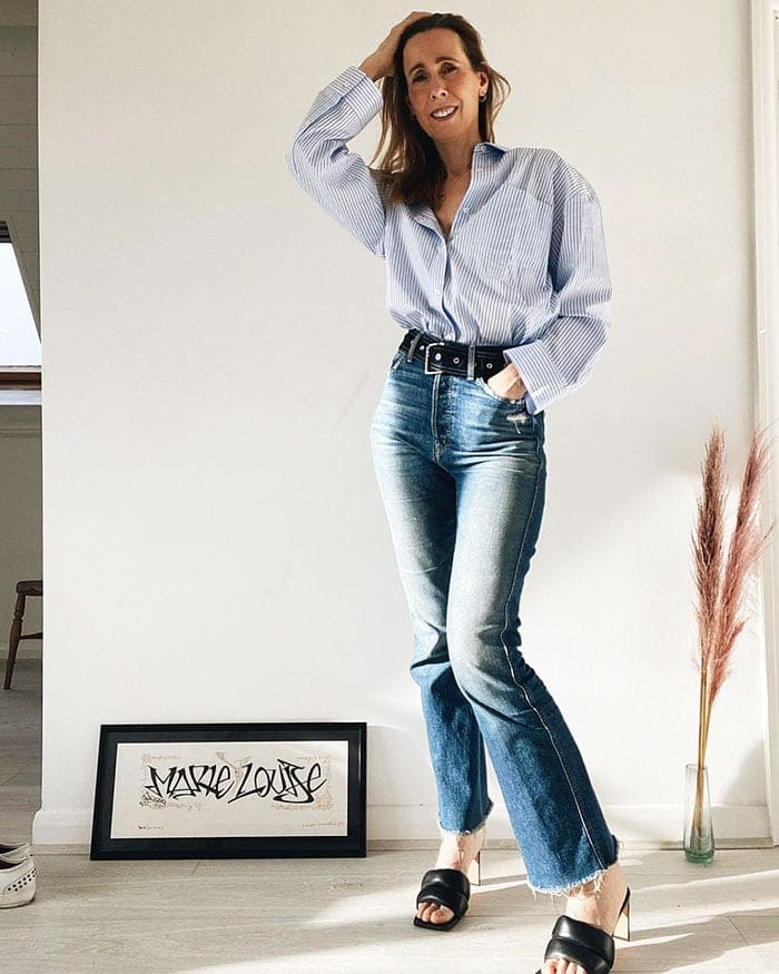 Clothes for tall women - Marie-Louise in long jeans | 40plusstyle.com