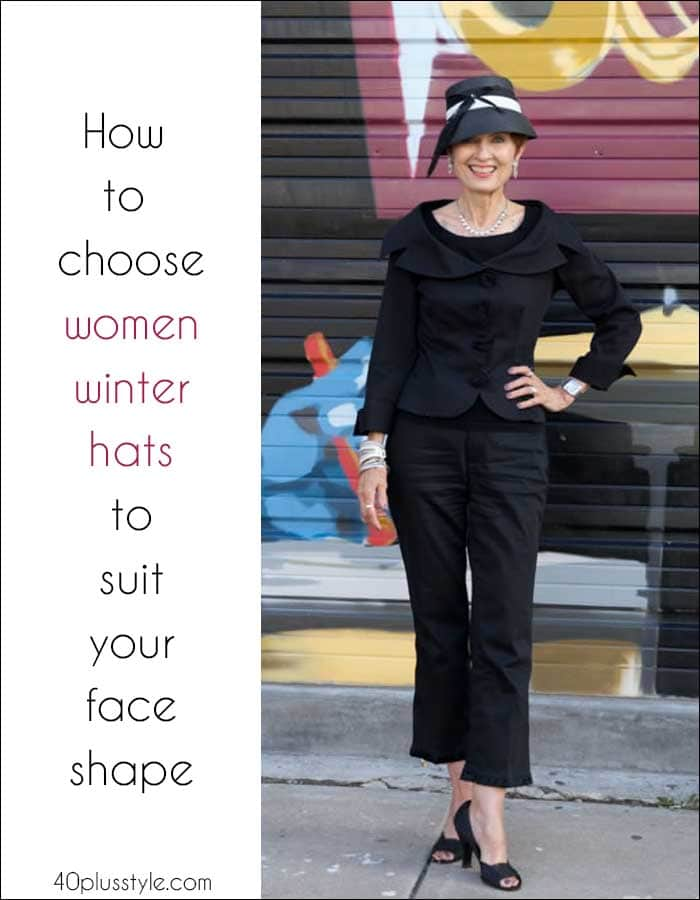 How to choose womens winter hats to suit your face shape | 40plusstyle.com
