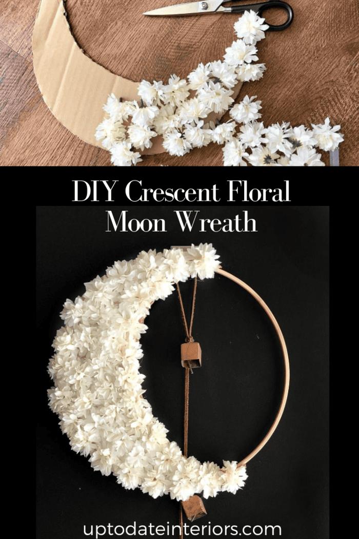 Diy Floral Crescent Moon Wreath Pinterest