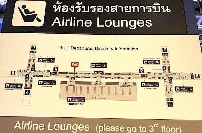 バンコク空港の地図