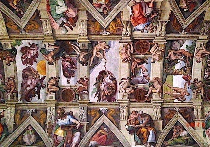 システィナ礼拝堂の天地創造の天井画