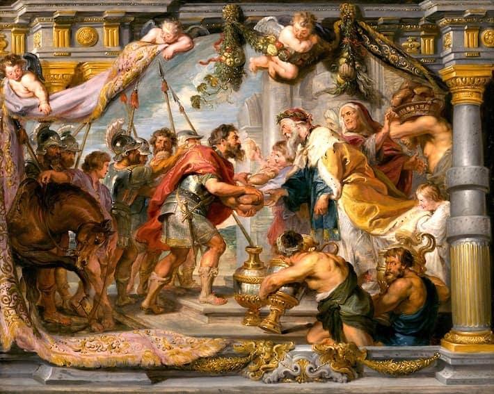 『アブラハムとメルキぜデクの会合』の画像
