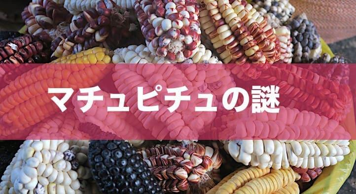 ペルーのいろいろなトウモロコシ