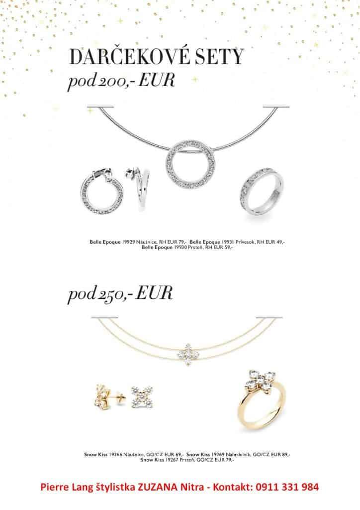 darček do 200 € a do 250 € šperky Pierre Lang Zuzana Nitra