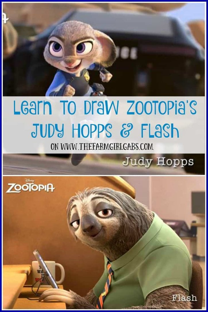 Learn To Draw Zootopia's Judy Hopps & Flash.