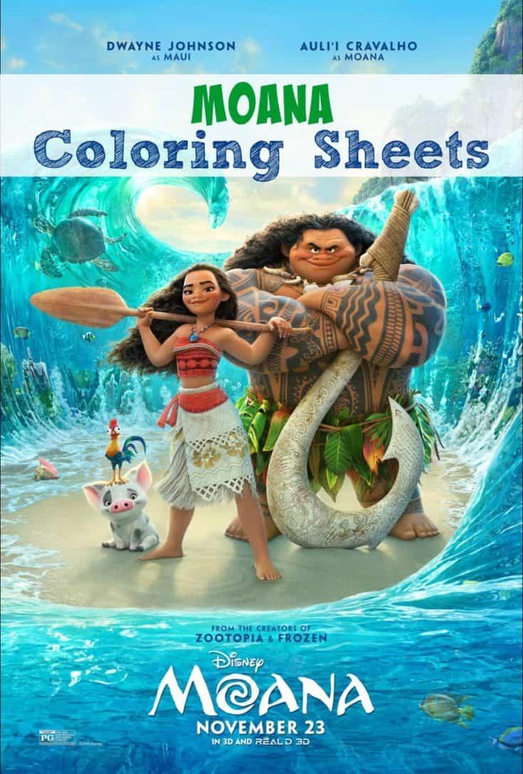 Free Moana Coloring Sheets