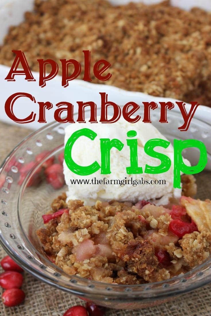Apple Cranberry Crisp from www.thefarmgirlgabs.com