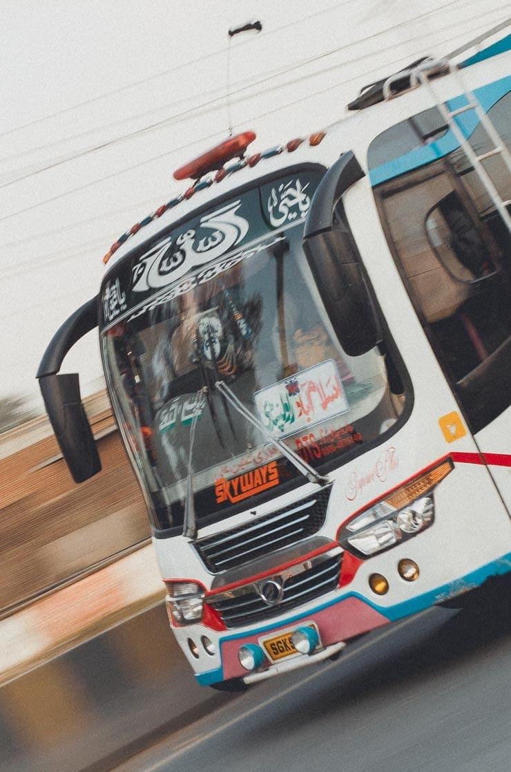 Der var også nyere busser at spotte.