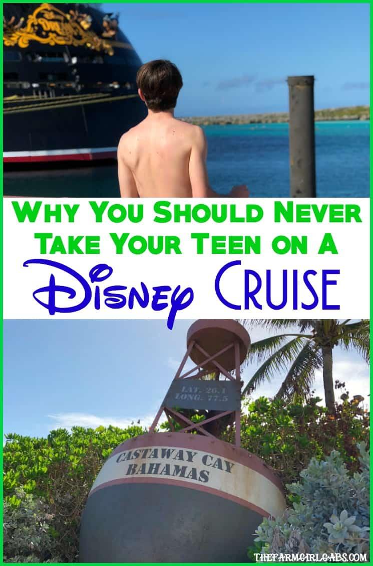 Why You Should Never Take Your Teenager On A Disney Cruise. #DisneyCruise #WaltDisneyWorld #DisneySMMC #Parenting #Teenagers #DisneyTravel #Disney #DisneyVacation #FamilyTravel