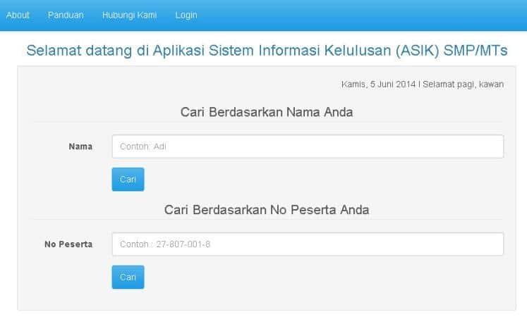 Sistem Informasi Pengumuman Kelulusan Online