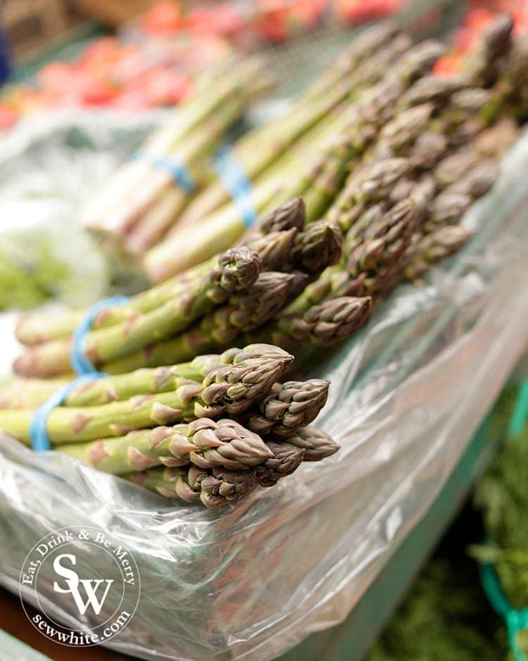 gorgeous fresh asparagus from the farmers market