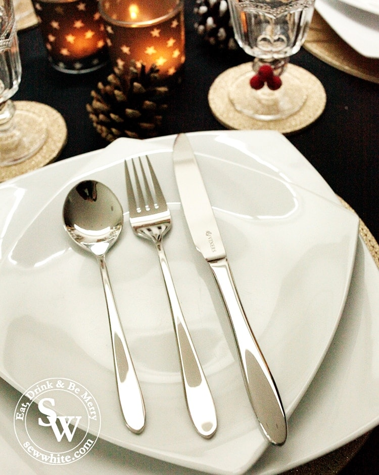 Viners cutlery on the Christmas table.