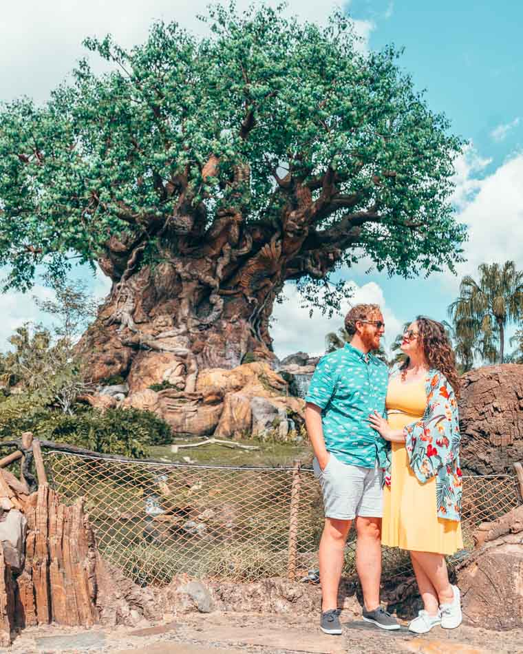 Lia and Jeremy Allbirds Animal Kingdom Disney World