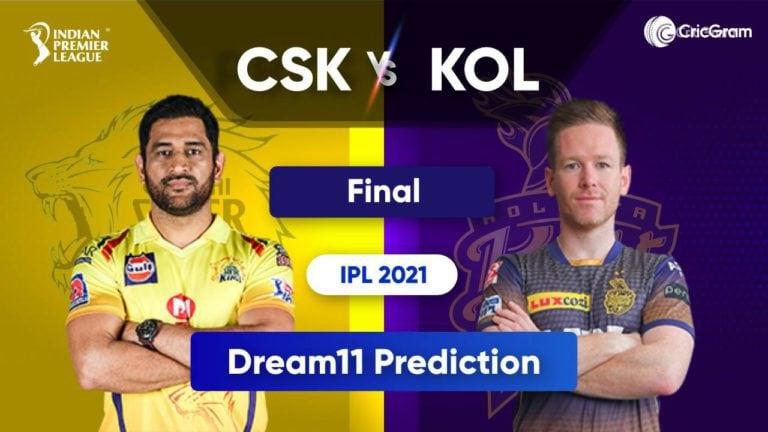 CSK vs KOL Dream11 Team Prediction IPL 2021 Final 15th October 2021