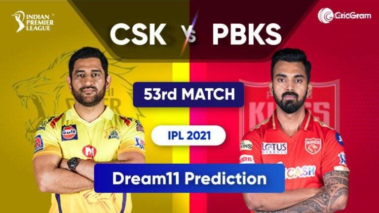 CSK vs PBKS Dream11 Team Prediction IPL 2021