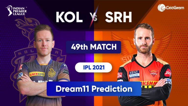 KOL vs SRH Dream11 Team Prediction IPL 2021 3rd October 2021