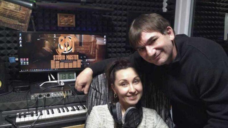 Константин Тетруев и Алёна Смелянская в студии звукозаписи STUDIO MASTER