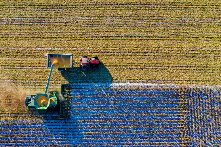 card image with machines on farm