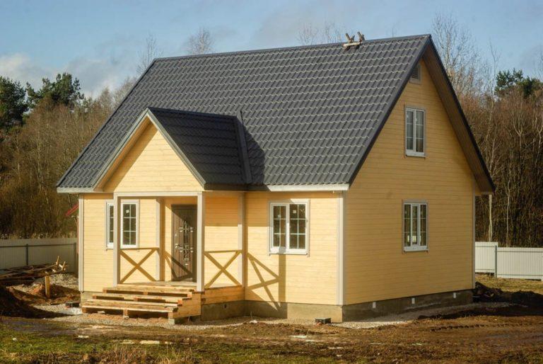 Каркасный дом под сайдингом