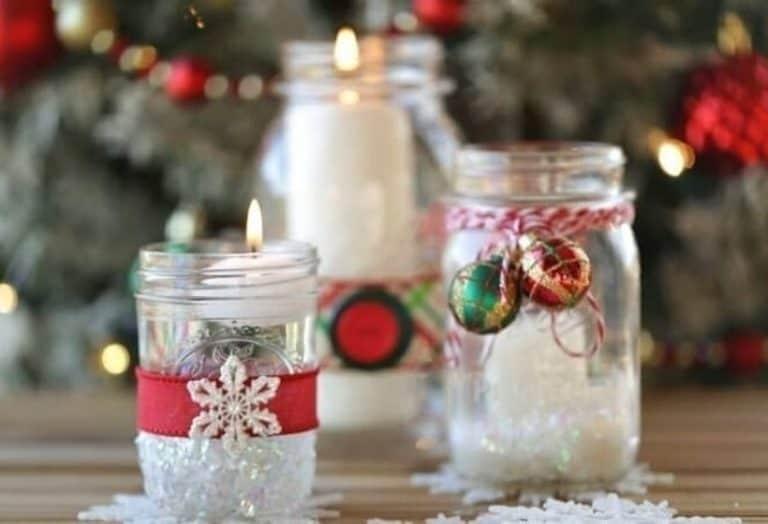 Mason Jar Christmas Candles