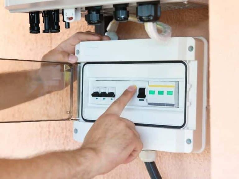 Control Panel Solar Panel Turn Off