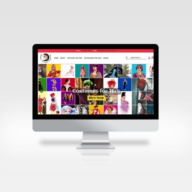 Website Design - Ballina Costume Company, Co. Mayo