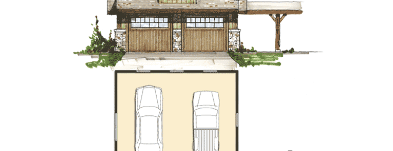 Small Rustic House Plans with Garage