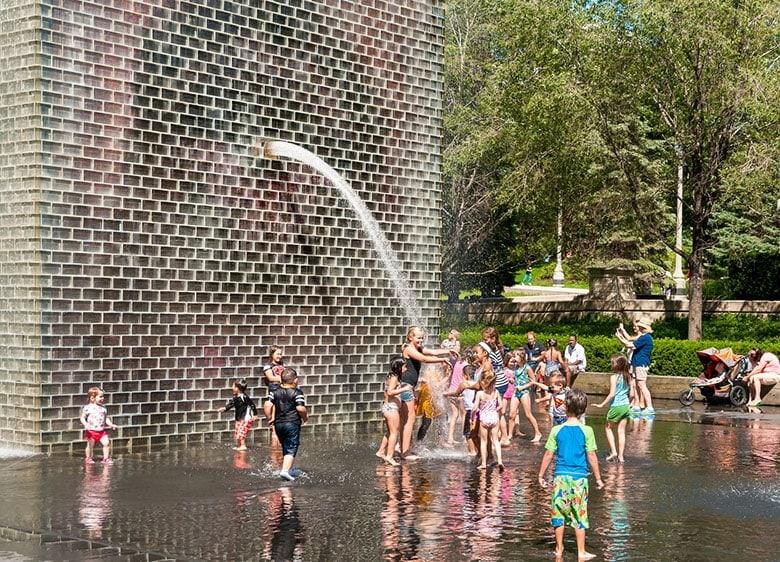 Children by Crown Fountain