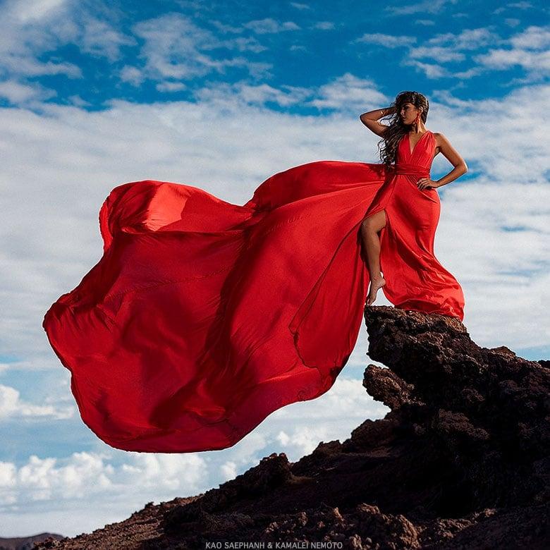 Haleakala Red Dress