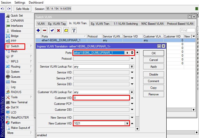 Ingress VLAN Translation