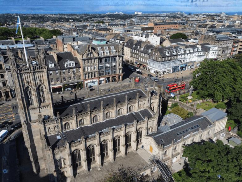 Edinburgh St Johns Church Drone Image