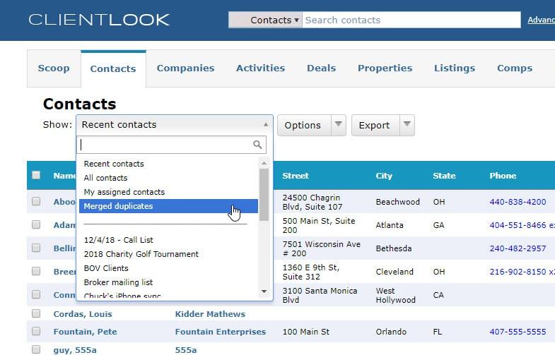Merge Duplicate Records In ClientLook_8