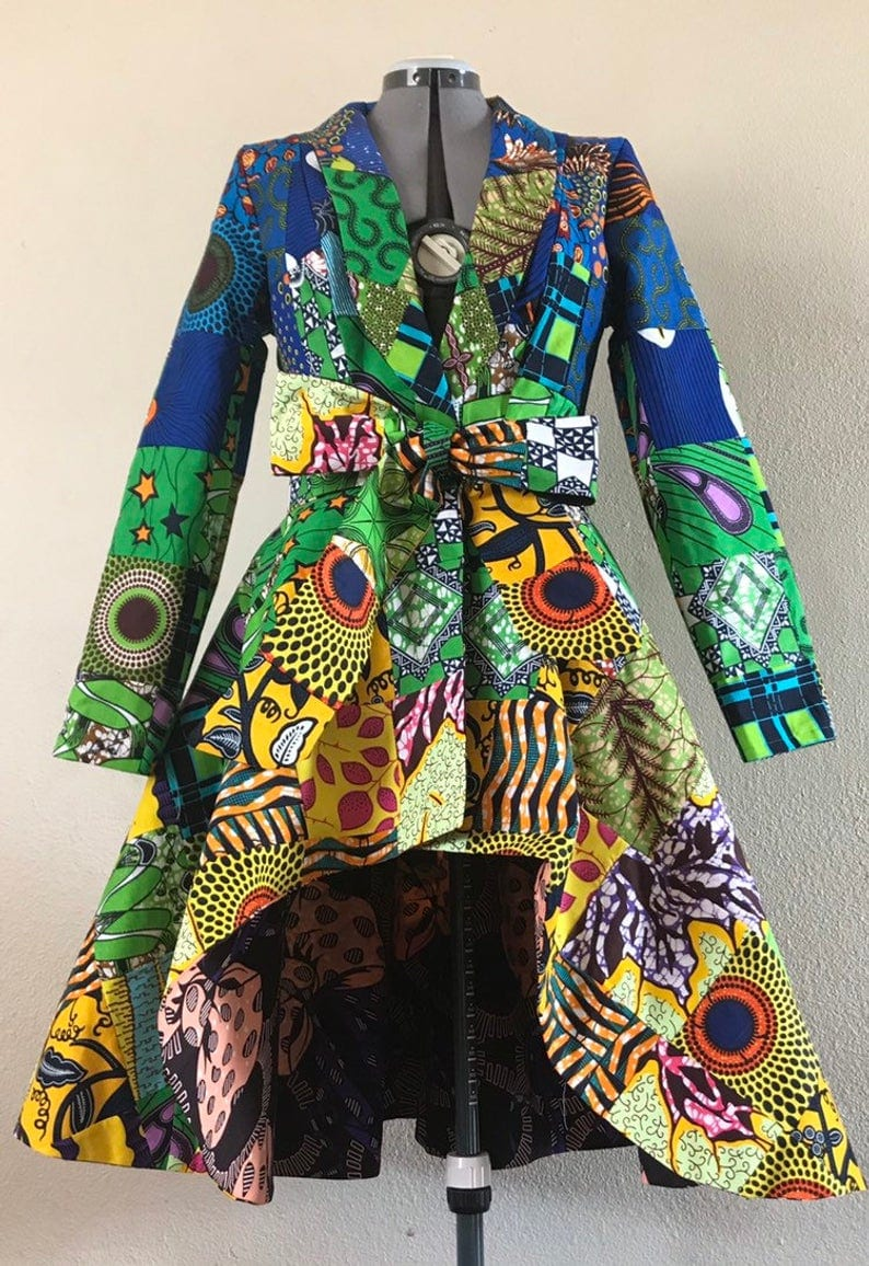 Patchwork African Pritn Jacket