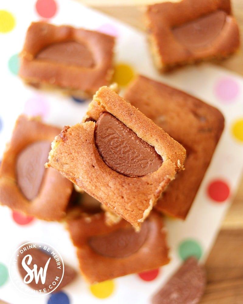 chocolate orange traybake slices.