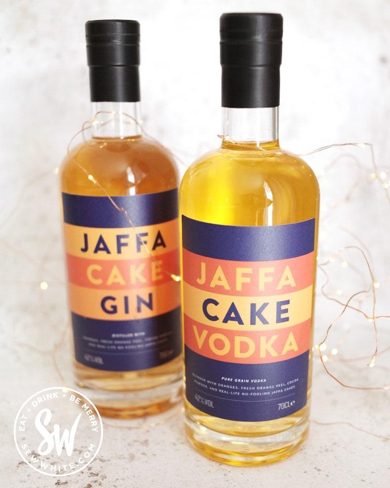 Jaffa Cake Gin and Jaff Cake vodka