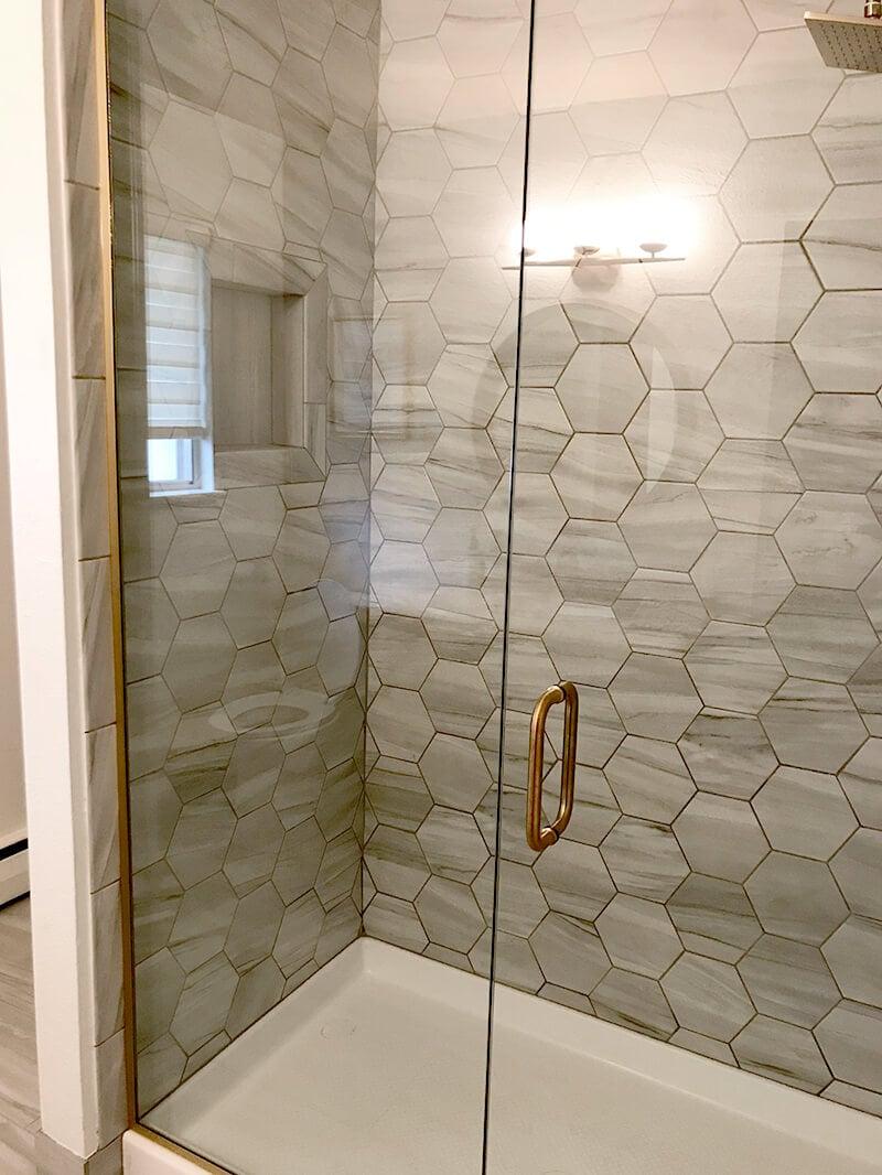 Hexagon Tile Bathroom Remodel