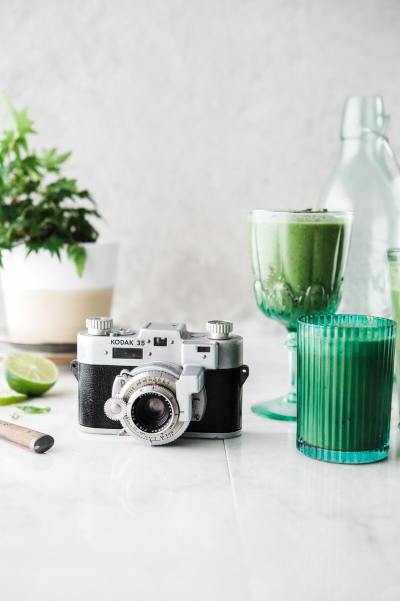 Camera and drinks