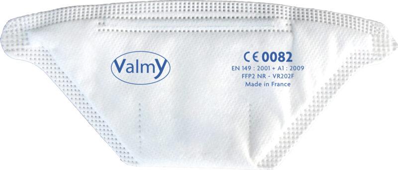 Vu de dessus du masque FFP2 Valmy