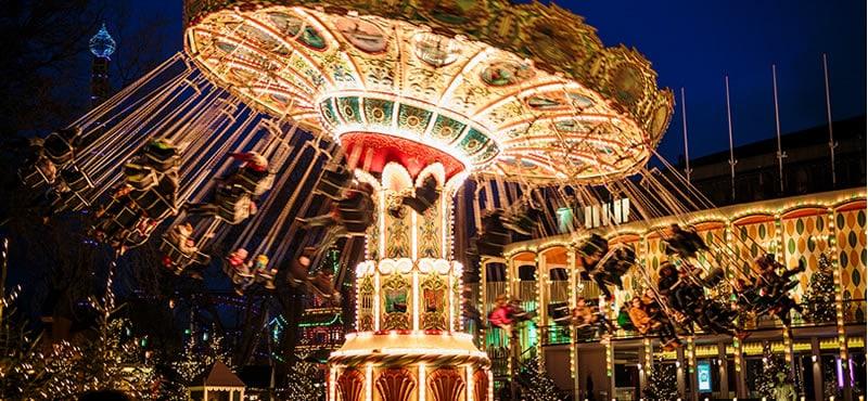 Kerstmarkten in Kopenhagen