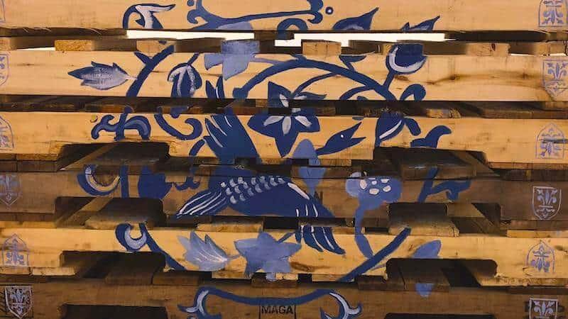 Soheila Esfahani Cultured Pallets Ross Creek acrylic on  wooden pallets 2018