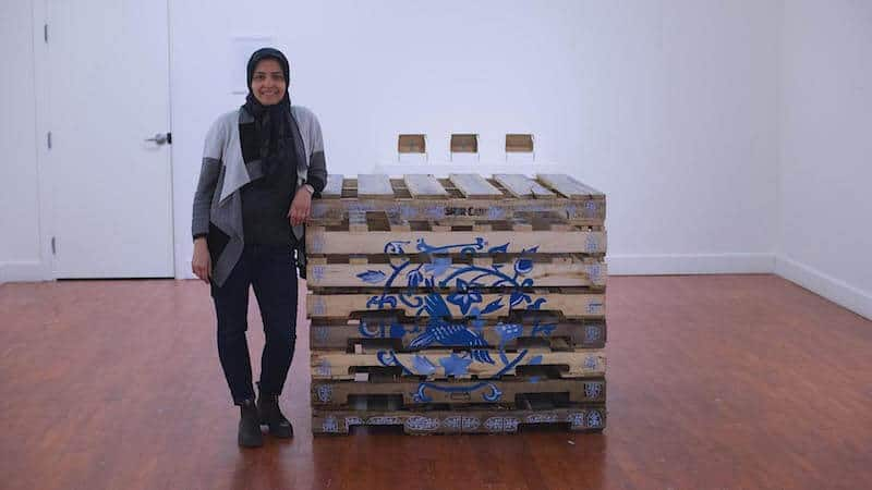 Soheila Esfahani installation view