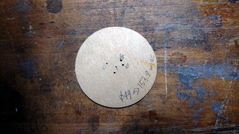 短縮サイクロイドを描くための円盤