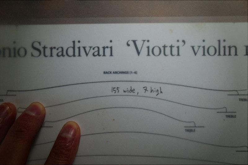 ストラディヴァリウスのアーチとサイクロイド曲線