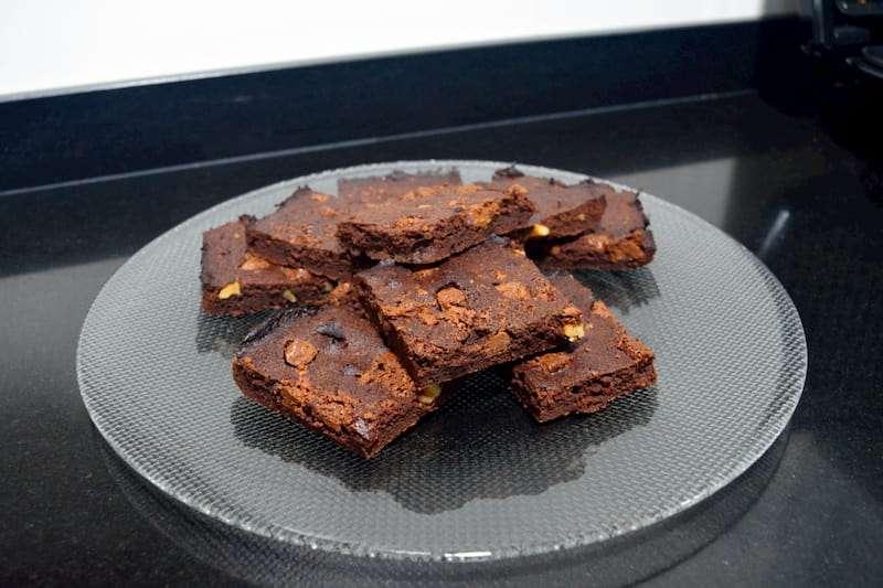 Receta de brownie con eritritol