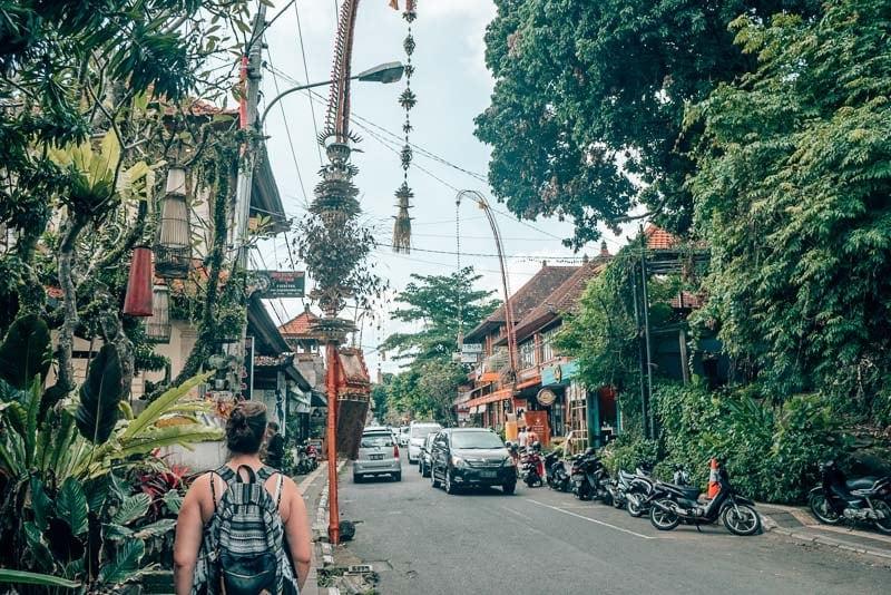 The streets of Ubud, Bali, Indonesia.