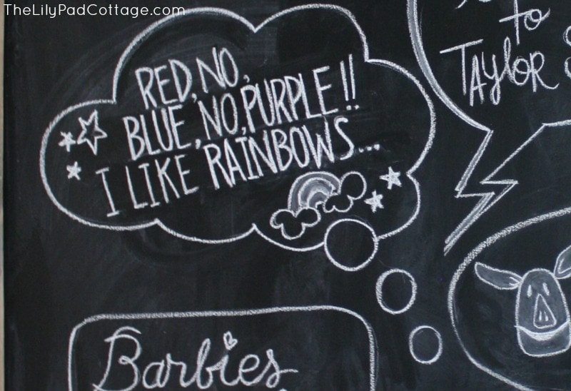 Chalkboard School fun