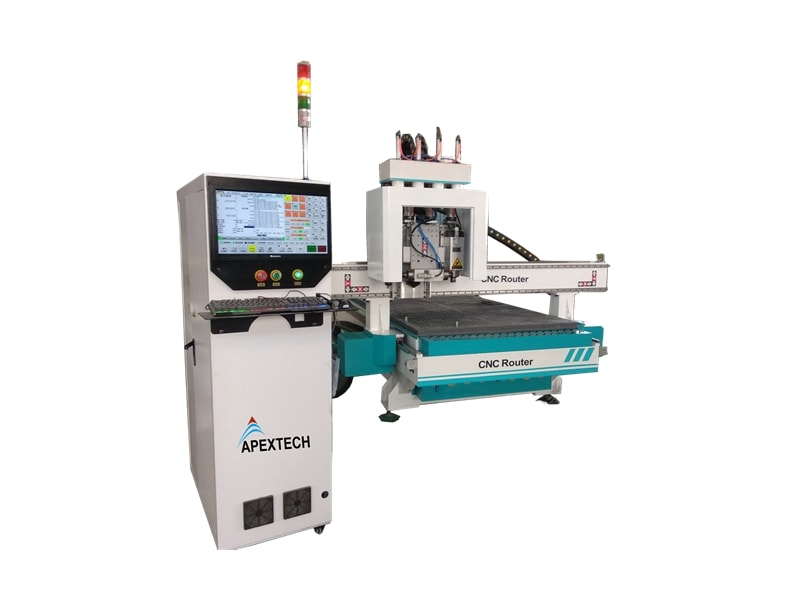 4 Heads ATC CNC Woodworking Machinery with Horizontal Spindle