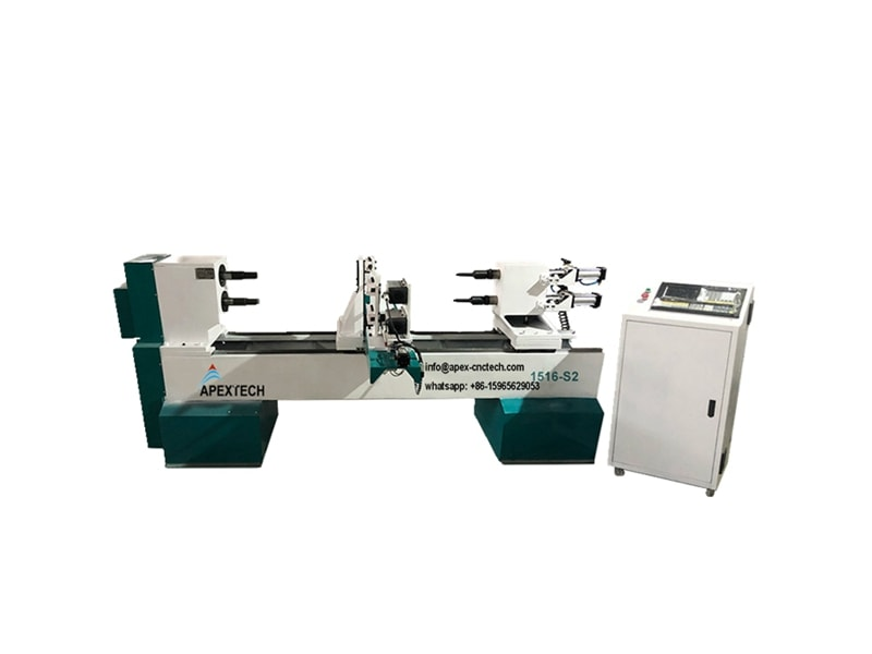 B1516 Two Axises Double Spindles Cnc Wood Lathe Engraving Twisting Router
